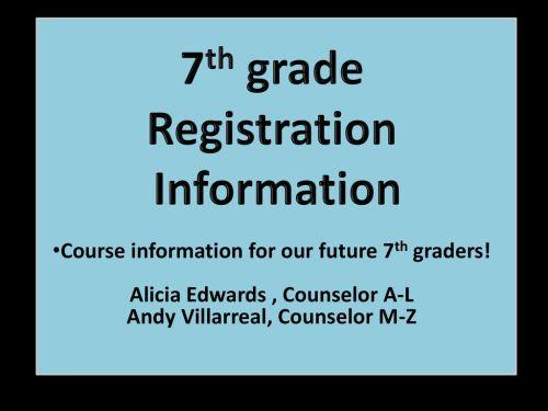 small resolution of 7th grade Registration Information - ppt download