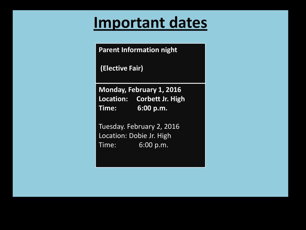 hight resolution of 7th grade Registration Information - ppt download