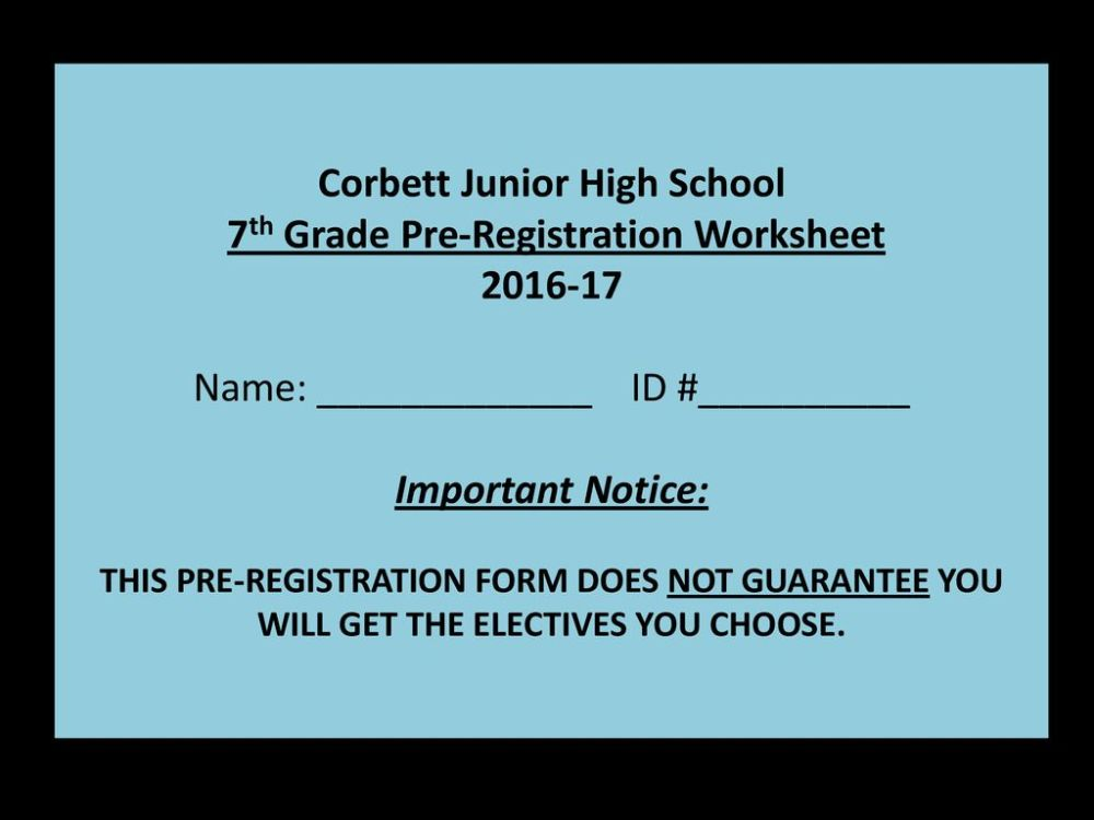 medium resolution of 7th grade Registration Information - ppt download