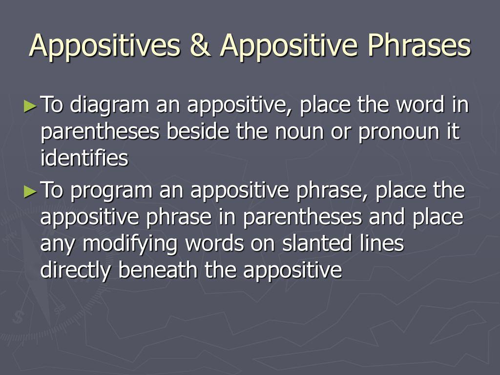 diagram appositive phrases ultrasonic movement detector circuit diagramming sentences ppt download appositives