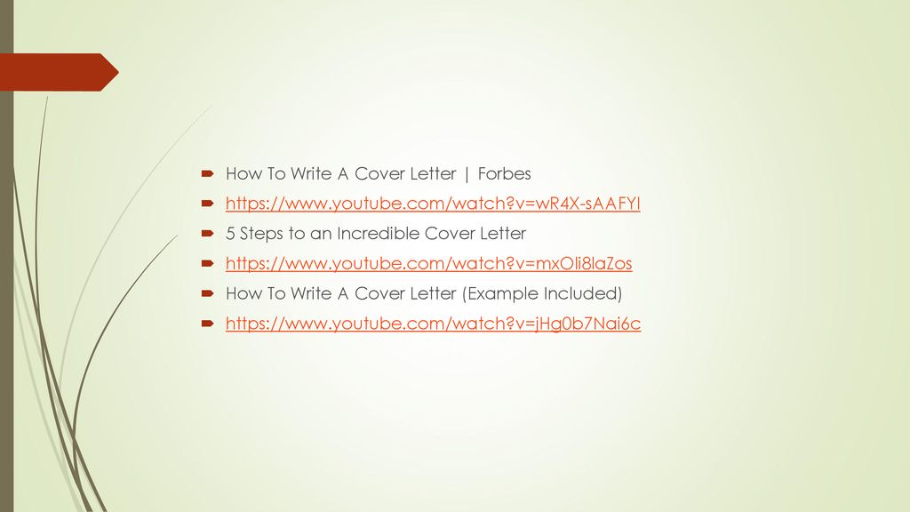 Forbes How To Write A Cover Letter