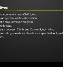 objectives list most commonly used cnc tools  [ 1024 x 768 Pixel ]