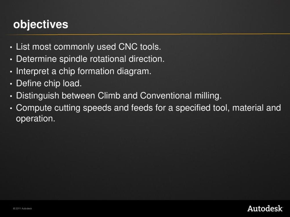 medium resolution of objectives list most commonly used cnc tools