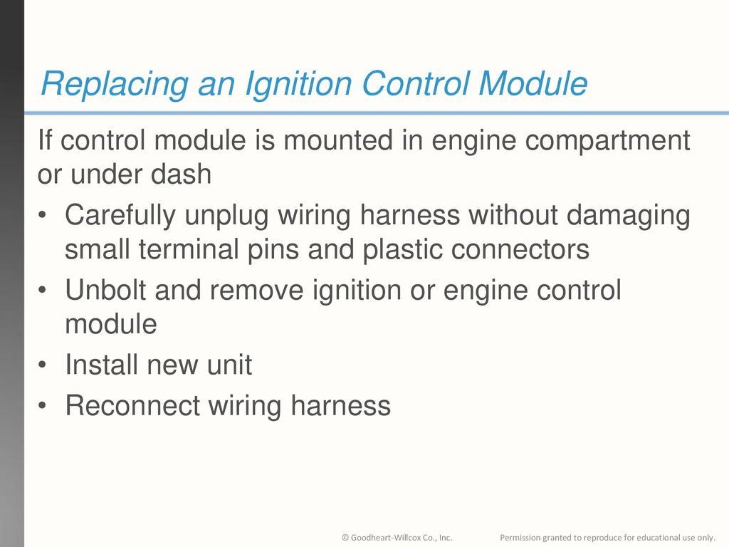 hight resolution of replacing an ignition control module