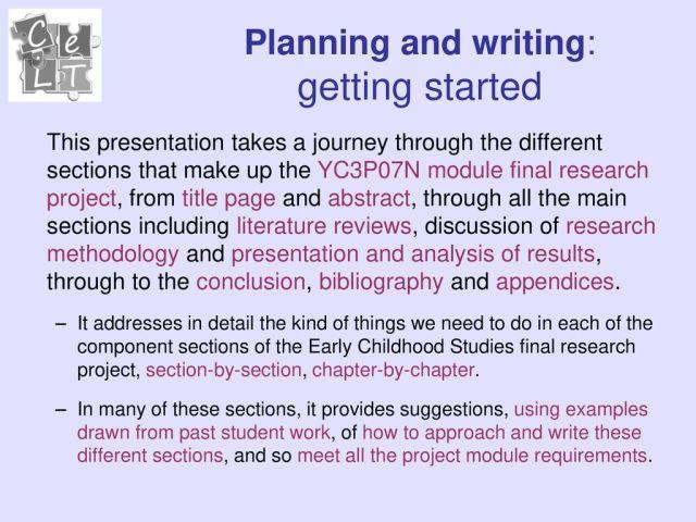 YC22P22N Project module 22: Understanding Final research projects