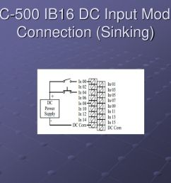 39 slc 500 ib16 dc input module connection sinking  [ 1024 x 768 Pixel ]
