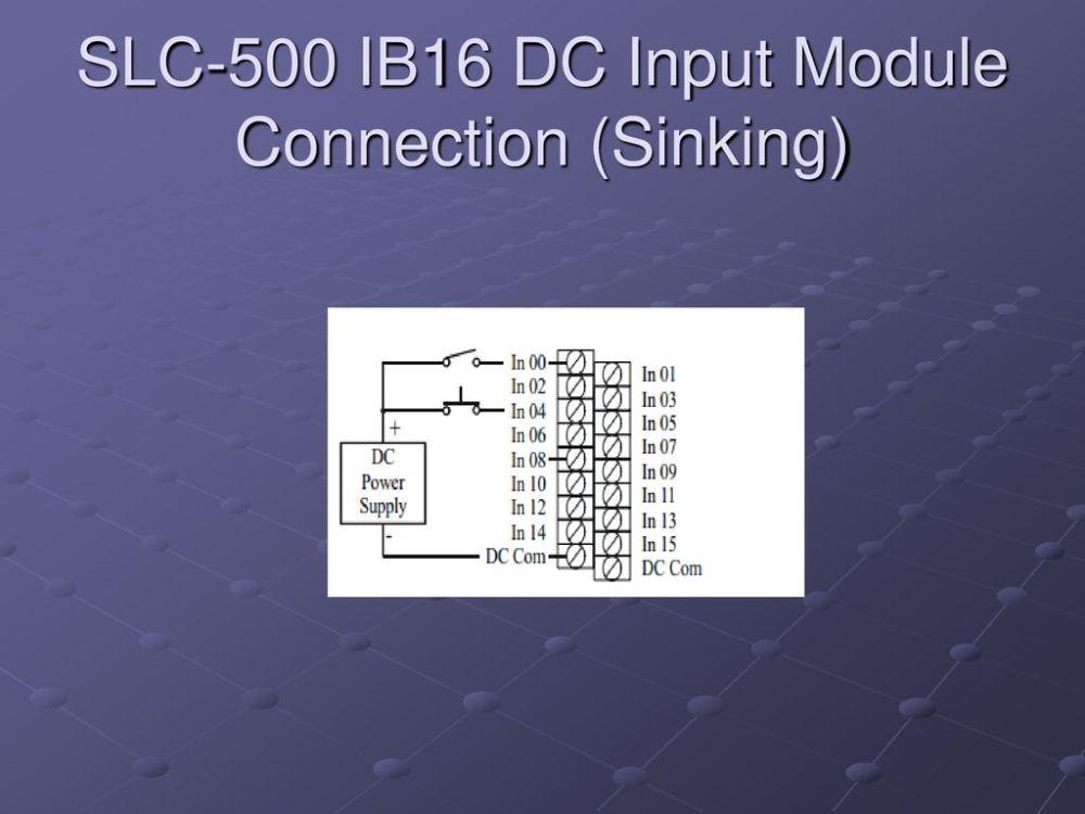 medium resolution of 39 slc 500 ib16 dc input module connection sinking