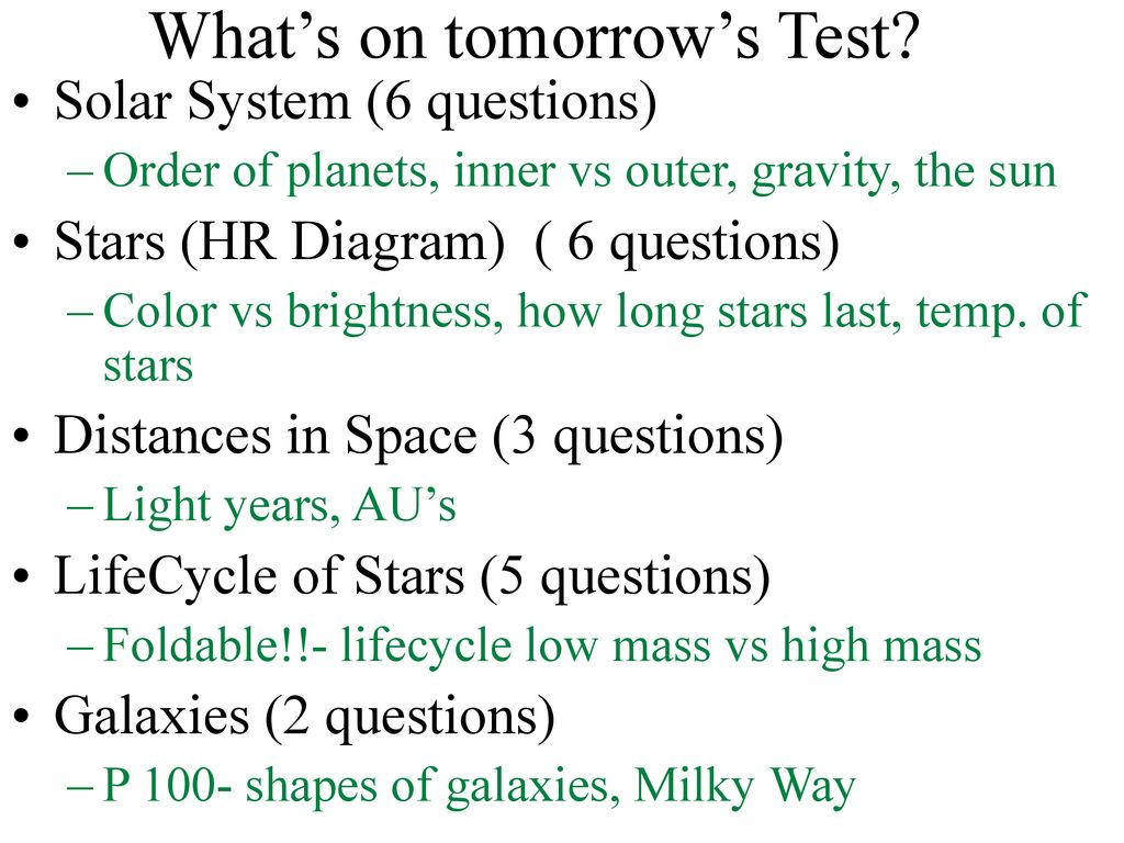 hight resolution of what s on tomorrow s test