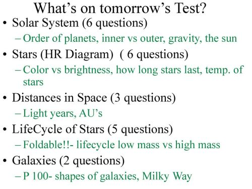 small resolution of what s on tomorrow s test