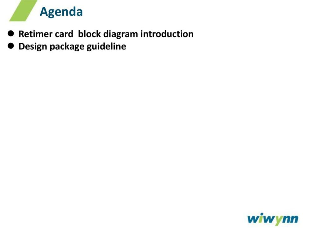 medium resolution of agenda retimer card block diagram introduction