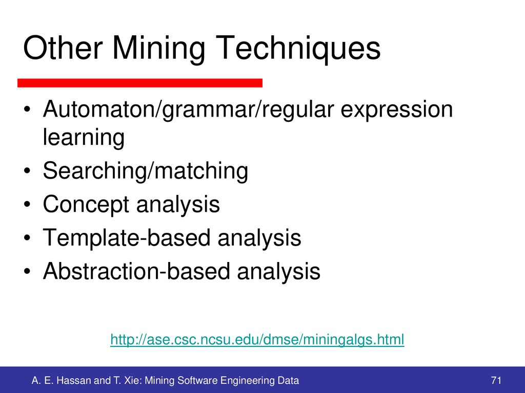 Other Mining Techniques
