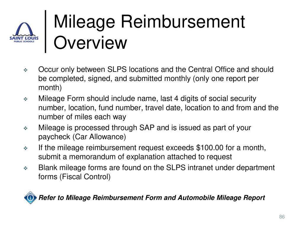 Mileage Reimbursement Overview