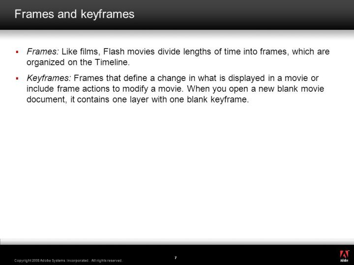 difference between frame and keyframe in macromedia flash ...