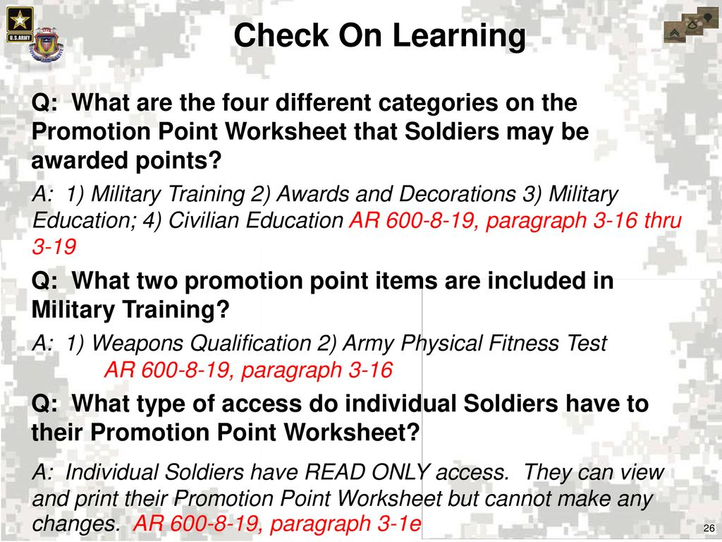 Us Army Awards And Decorations Points