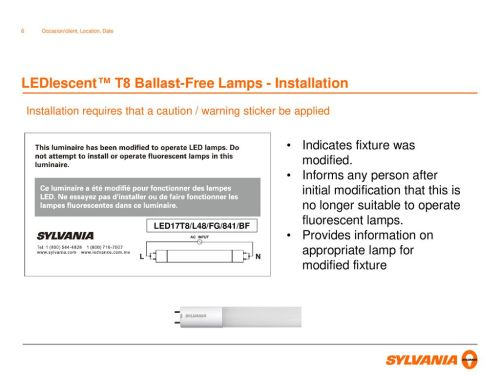 small resolution of ledlescent t8 ballast free lamps wiring diagram 6 ledlescent