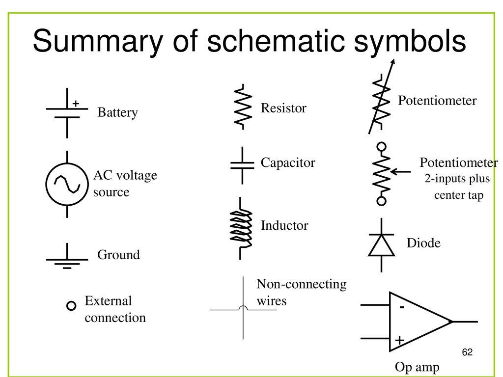 hight resolution of summary of schematic symbols