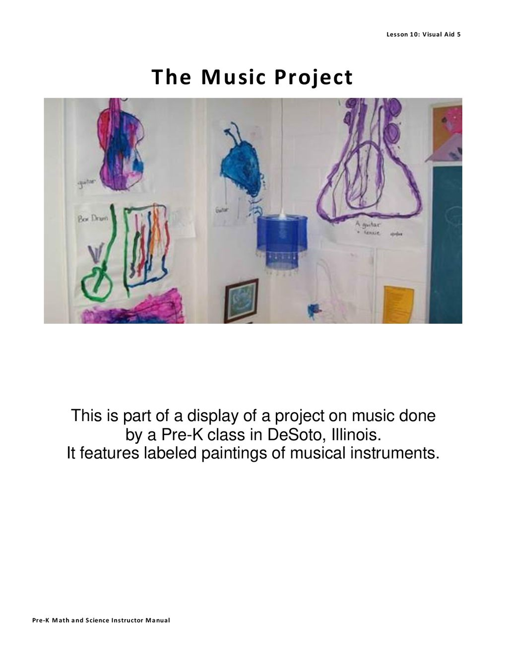 hight resolution of pre k math and science instructor manual it features labeled paintings of musical instruments