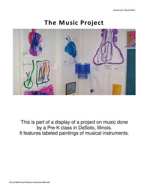 small resolution of pre k math and science instructor manual it features labeled paintings of musical instruments