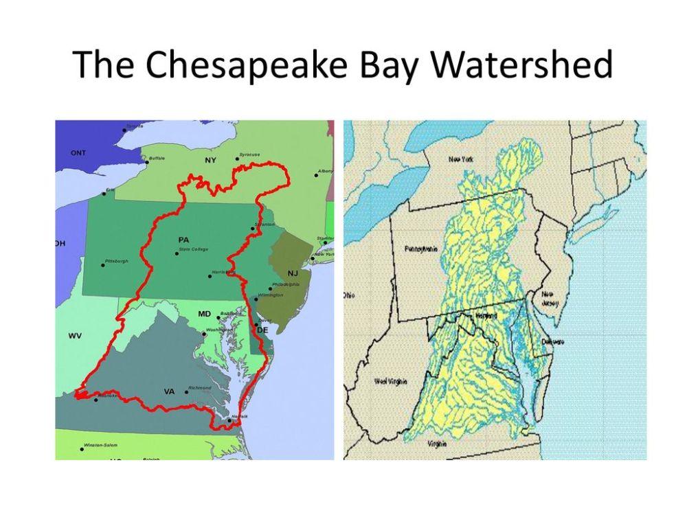 medium resolution of the chesapeake bay watershed