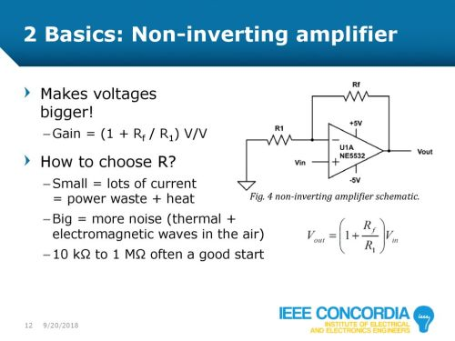 small resolution of intro to analog audio electronics ppt download norton noninverting lowvoltage comparator circuit diagram