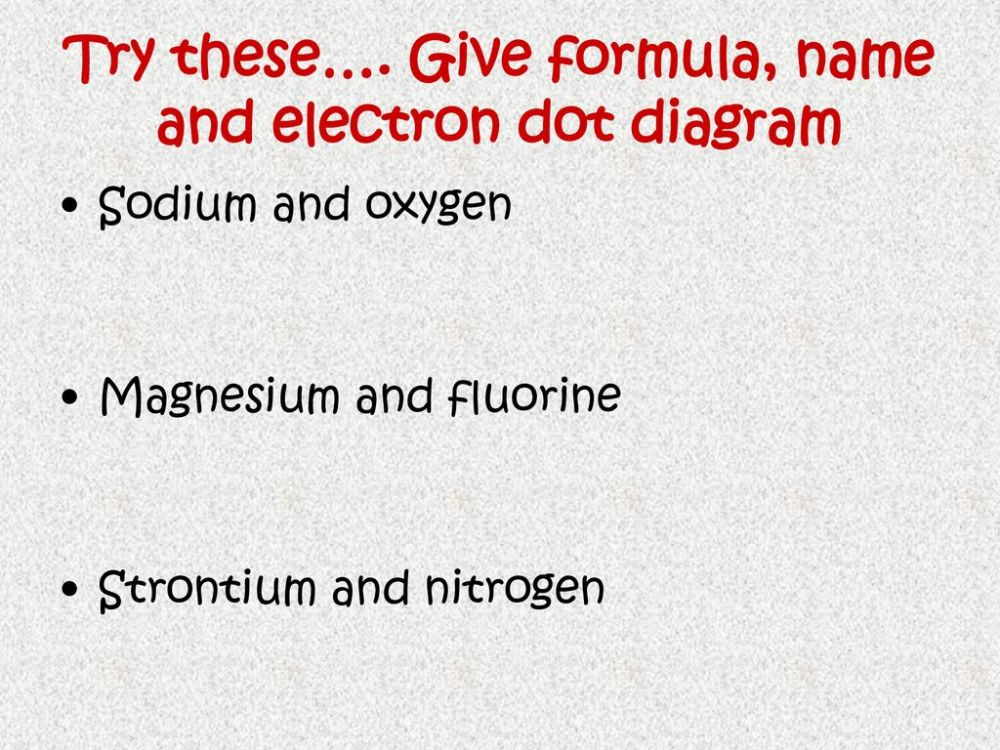 medium resolution of give formula name and electron dot diagram