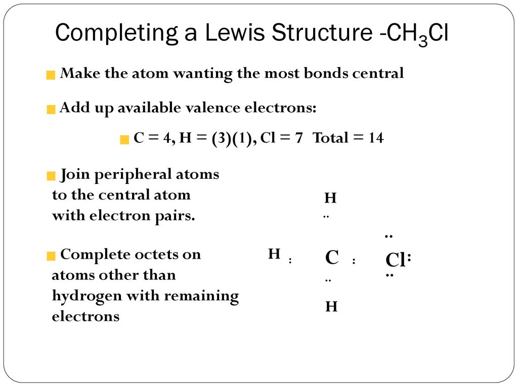 lewis dot diagram for ch3cl oil pressure safety switch wiring chemical bonding 10 18 ppt download completing a structure