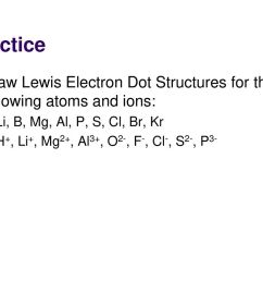 practice draw lewis electron dot structures for the following atoms and ions li b [ 1024 x 768 Pixel ]