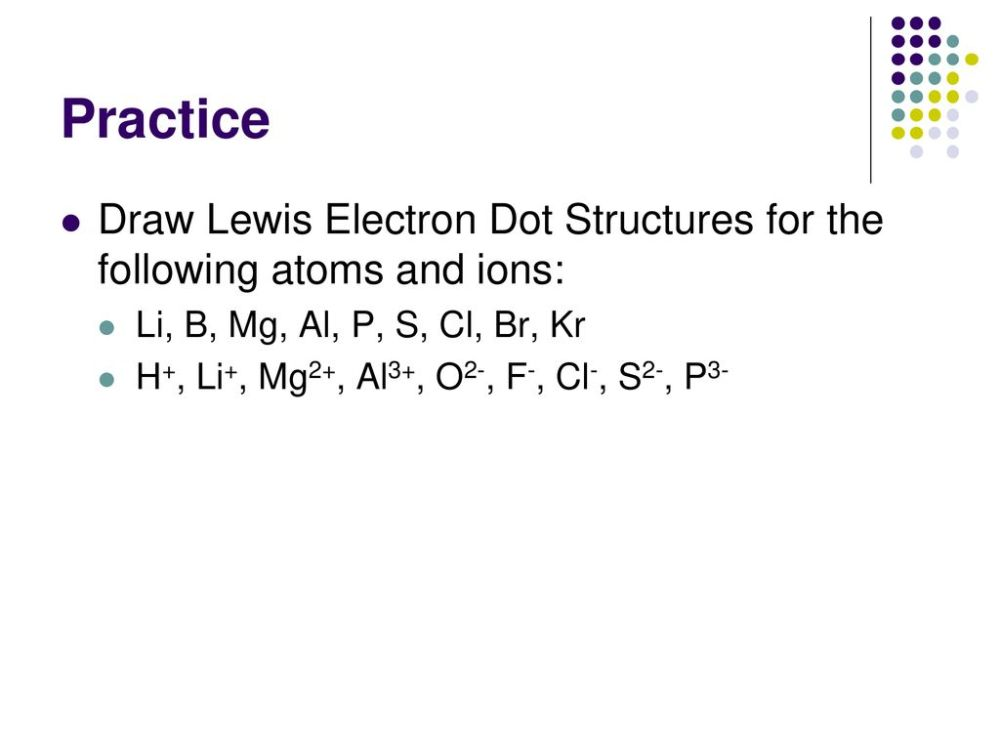 medium resolution of practice draw lewis electron dot structures for the following atoms and ions li b