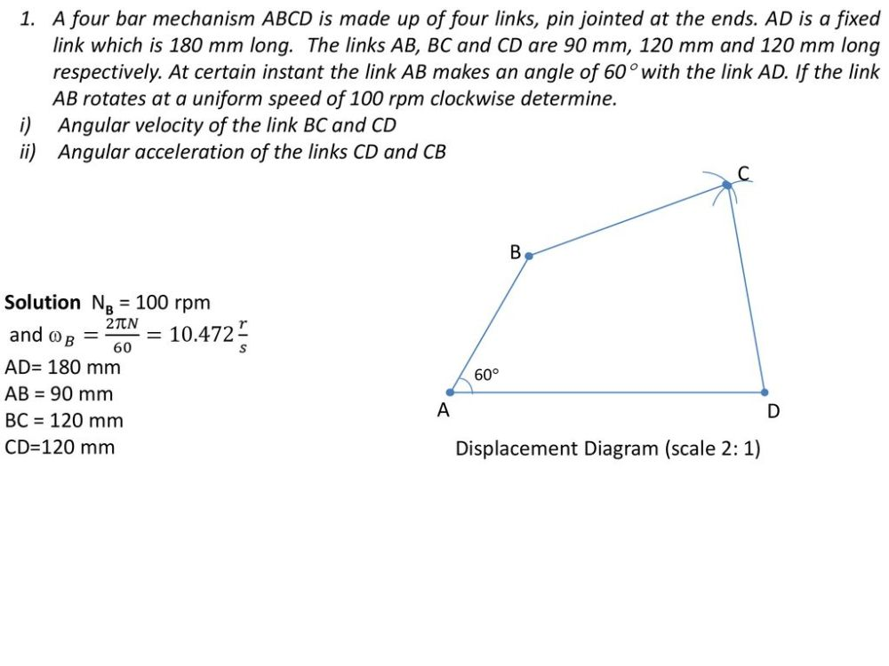 medium resolution of angular velocity of the link bc and cd