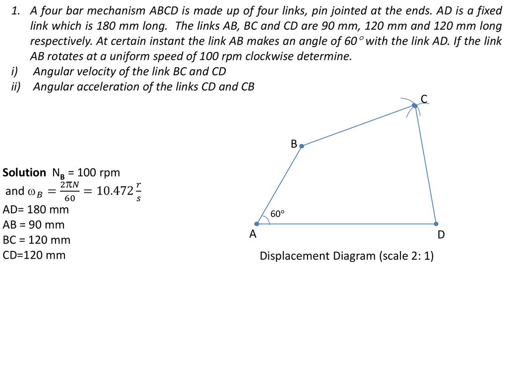 hight resolution of angular velocity of the link bc and cd