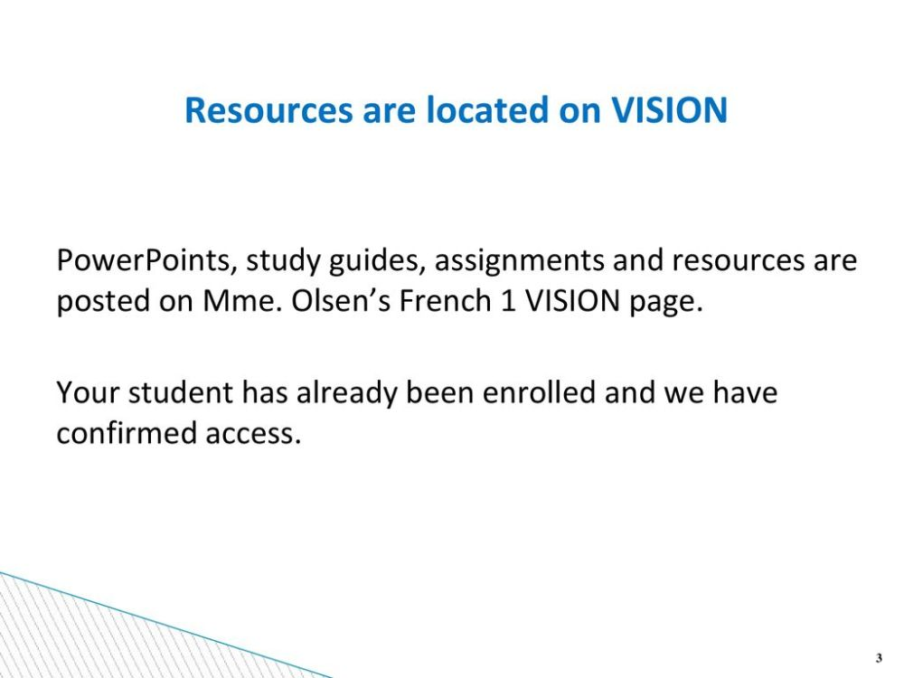medium resolution of Welcome to Mme. Olsen's French 1 class Block 7 - ppt download