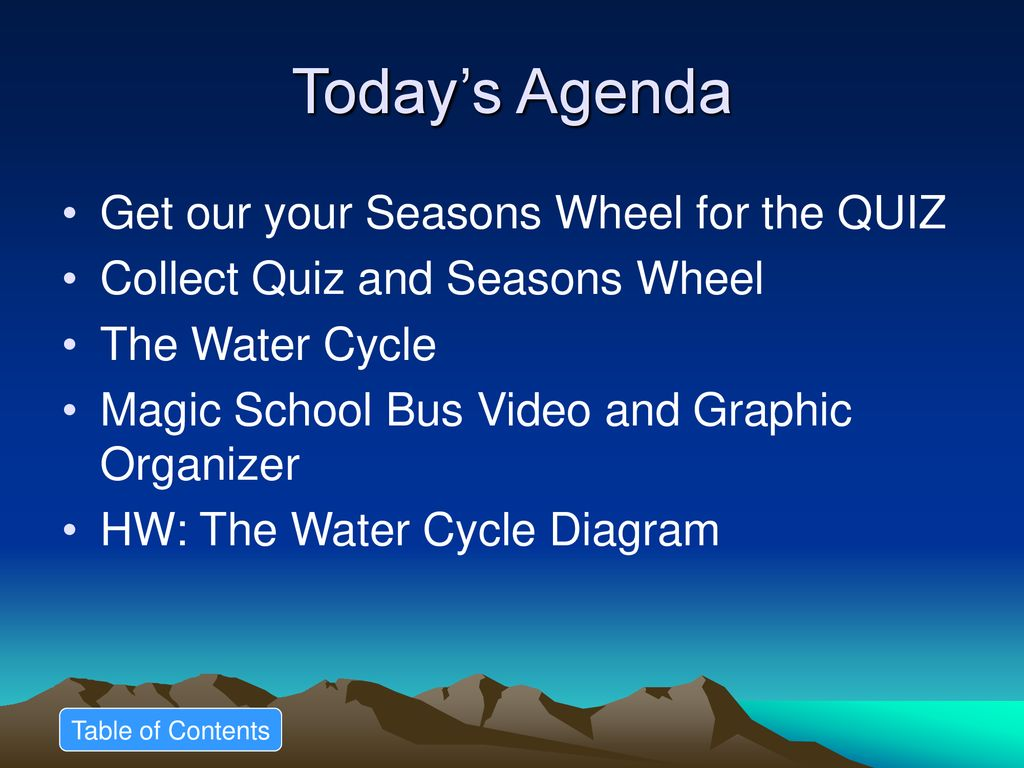 hight resolution of today s agenda get our your seasons wheel for the quiz