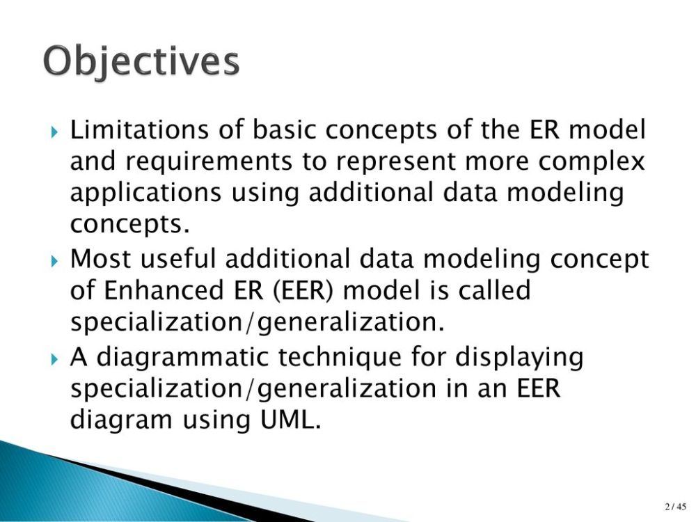 medium resolution of 2 objectives limitations of basic concepts of the er model