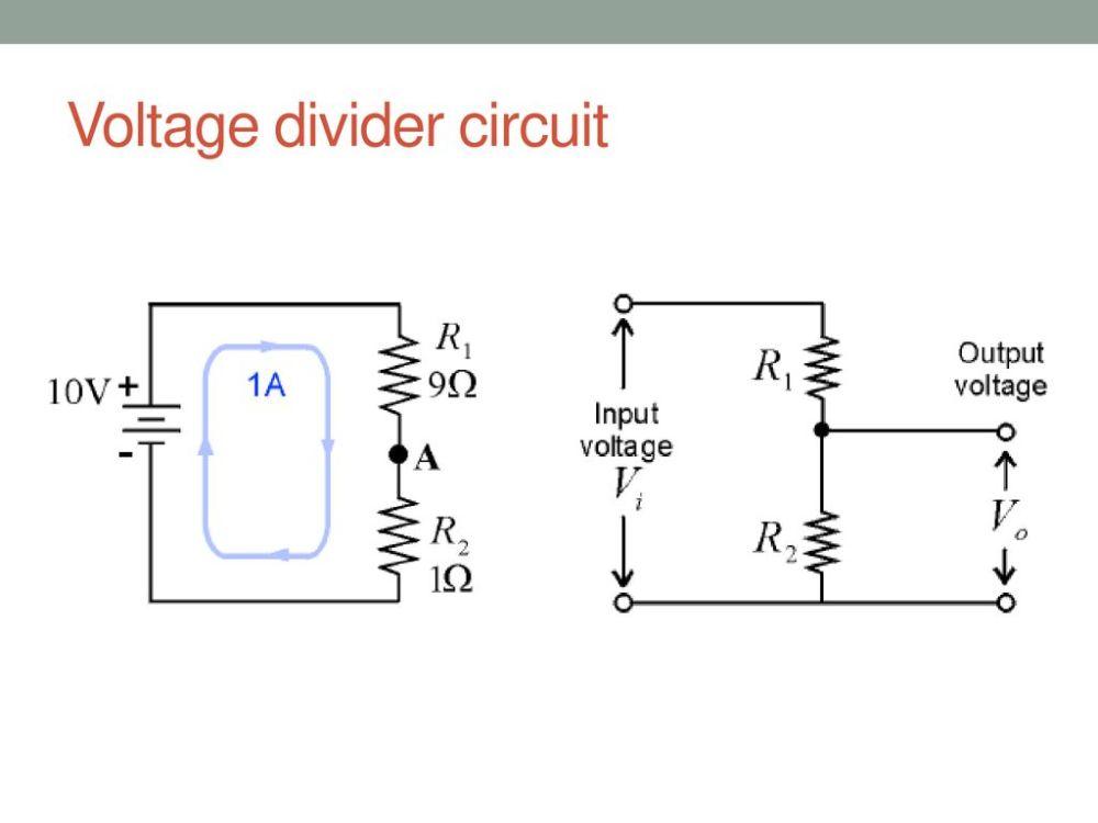 medium resolution of voltage divider circuit
