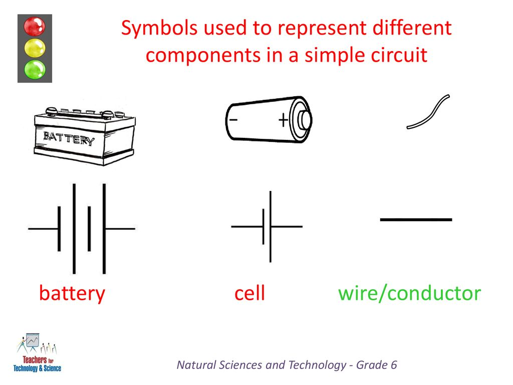 hight resolution of symbols used to represent different components in a simple circuit