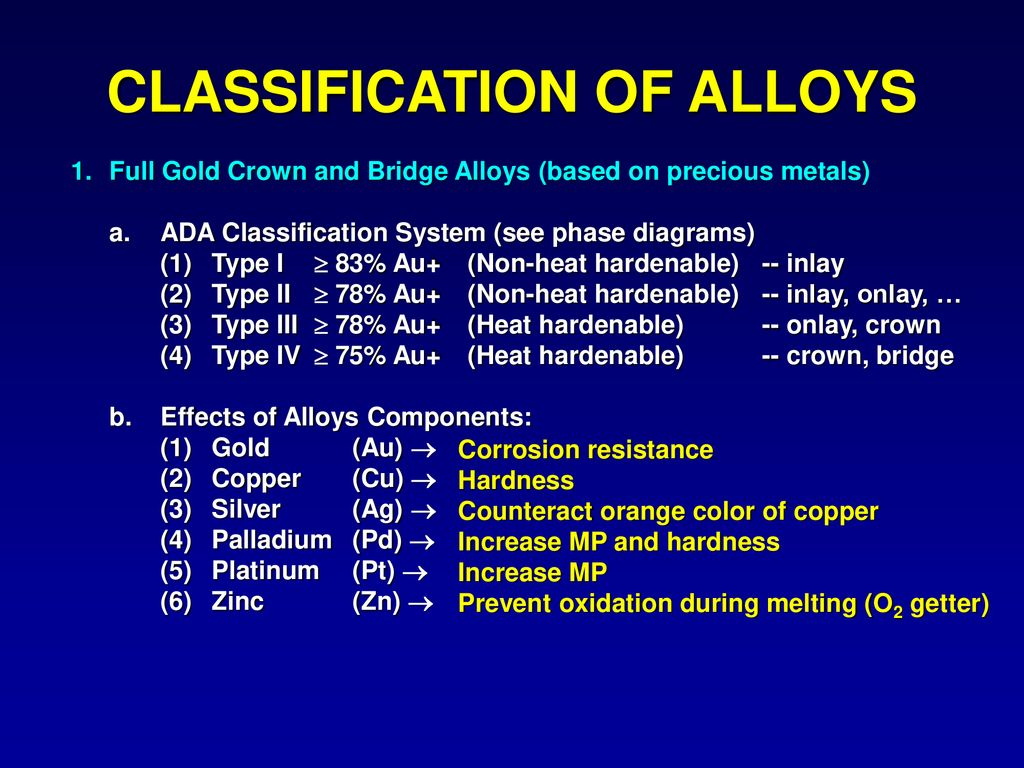 hight resolution of classification of alloys