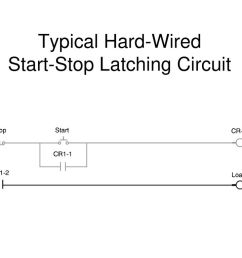 4 typical hard wired start stop latching circuit [ 1024 x 768 Pixel ]