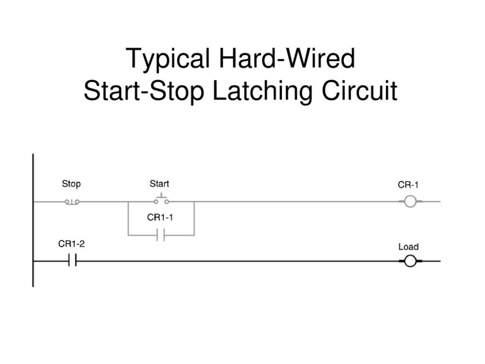 medium resolution of 4 typical hard wired start stop latching circuit