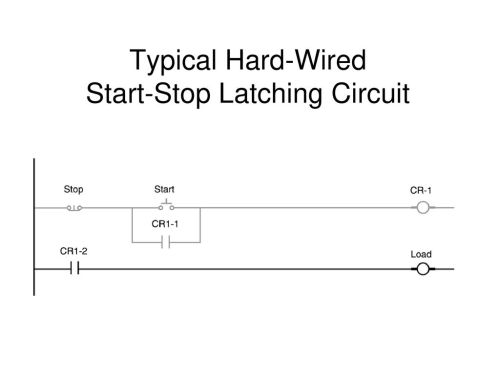 small resolution of 4 typical hard wired start stop latching circuit