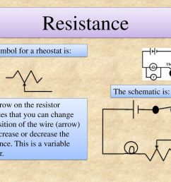 resistance the symbol for a rheostat is the schematic is  [ 1024 x 768 Pixel ]