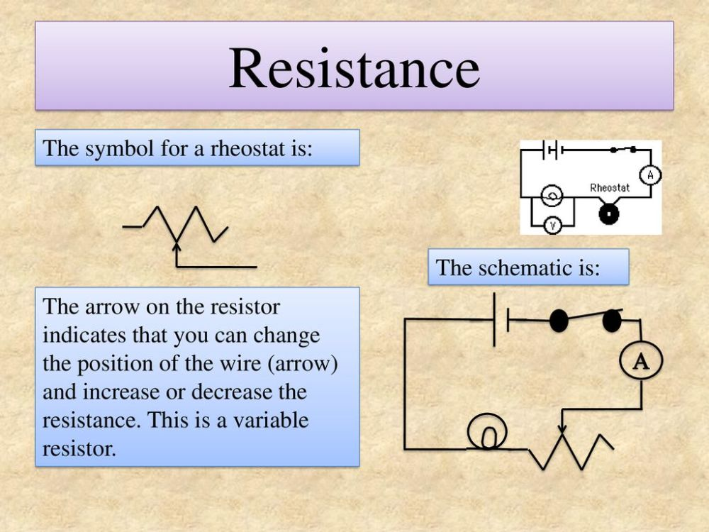 medium resolution of resistance the symbol for a rheostat is the schematic is