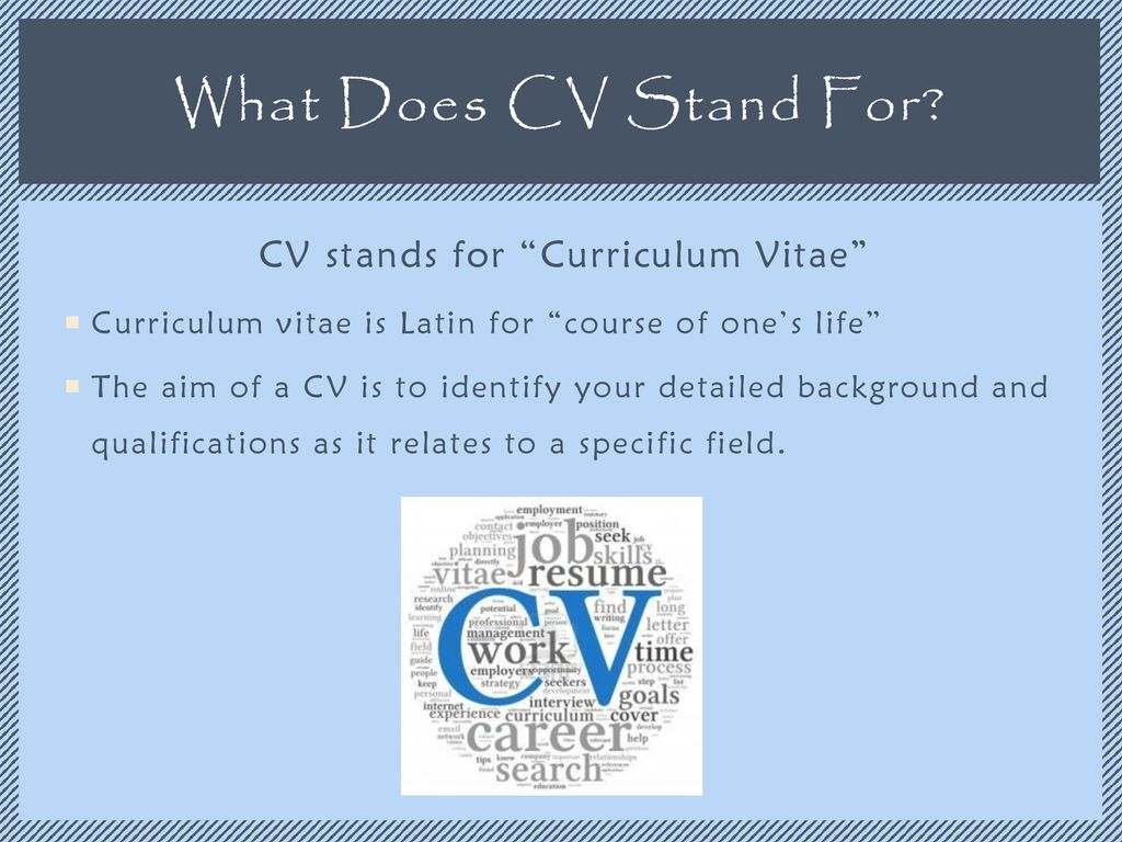 What Does Cv Mean Resume What Does Cv Mean On A Resume Curriculum Vitae Rhgenerasigcom What
