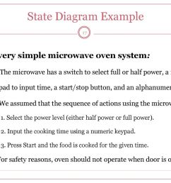 state diagram example a very simple microwave oven system 17 [ 1024 x 768 Pixel ]