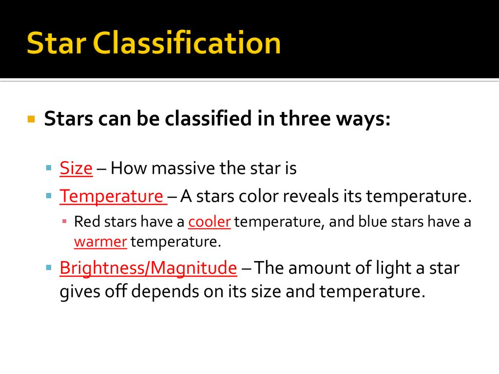 hight resolution of 2 star classification