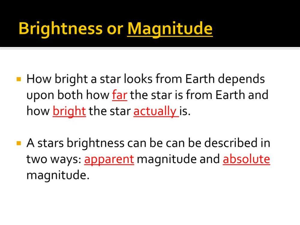 medium resolution of 3 brightness or magnitude