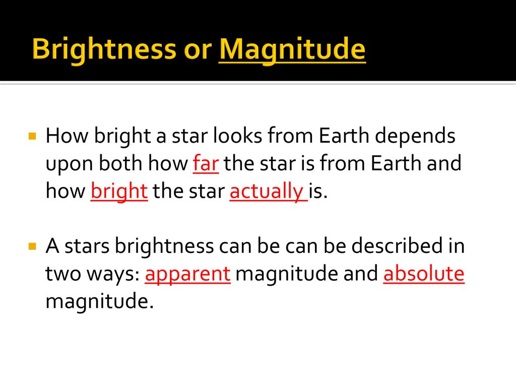 hight resolution of 3 brightness or magnitude