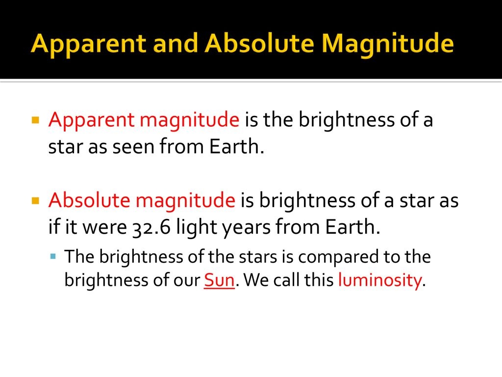 hight resolution of 4 apparent and absolute magnitude