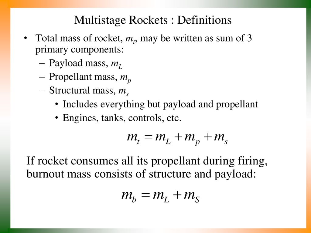 hight resolution of 13 multistage rockets definitions