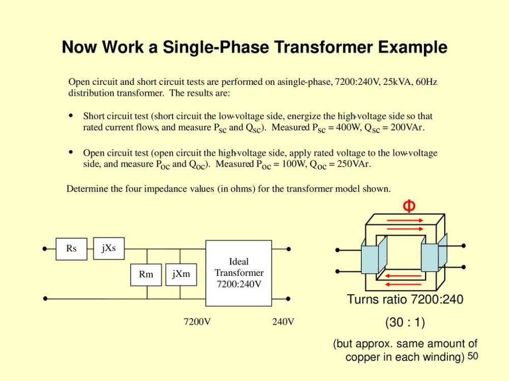 medium resolution of now work a single phase transformer example