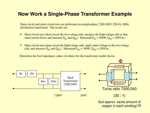 small resolution of now work a single phase transformer example